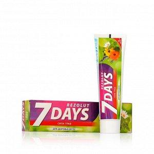 7 days Rezolut зубная паста Сила трав для здоровья десен 100МЛ