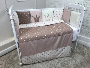 КПБ 3 предм. комплект постельного белья в кроватку Нежная королева 120*60