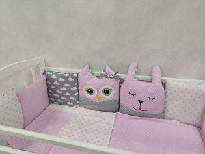 КПБ 3 предм. комплект постельного белья в кроватку Лесные жители розовый