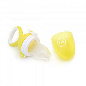 Ниблер Happy Baby с силиконовой насадкой для пюре и каш, цвет желтый