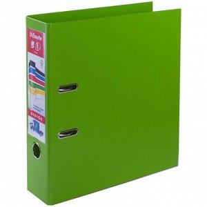 """Папка-регистратор Esselte """"Standard Plus"""", 80мм, полипропилен, нижний метал. кант, зеленая"""