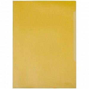 Папка-уголок Durable, А4+, 180мкм, прозрачная желтая