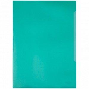 Папка-уголок Durable, А4+, 180мкм, прозрачная зеленая