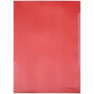 Папка-уголок Durable, А4+, 180мкм, прозрачная красная