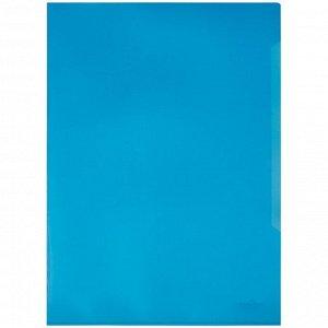Папка-уголок Durable, А4+, 180мкм, прозрачная синяя
