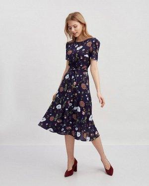 Платье жен. (001624) сине-розовый