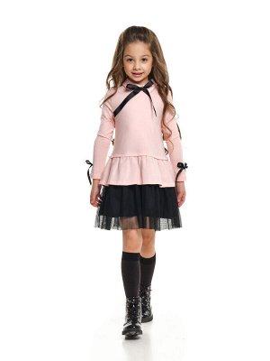 Платье (98-122см) UD 7312(1)роз/черный