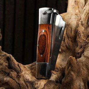 Нож складной Танто, рукоять дерево, 18см, клинок 6,5см