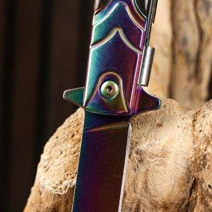 Нож складной полуавтоматический, градиент, 21,5см, клинок 9,5см