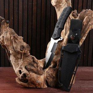 Нож тактический, лезвие серебристо-черное 22,5 см, клинок 9,5см