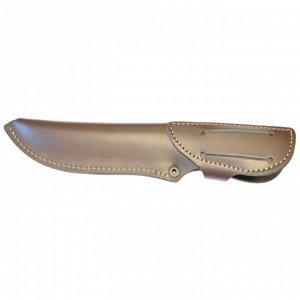 Чехол для ножа закрытый средний, с лезвием длиной 15,5 см, кожаный, микс цветов