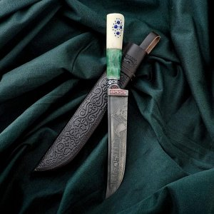 Нож Пчак Шархон - рукоять кость Малахит (14-28см) 6769503