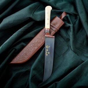 Нож Пчак Шархон - рукоять кость, клинок 15см 6769504