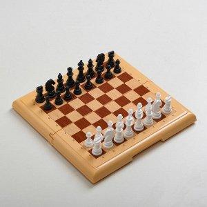 """Настольная игра """"Шахматы"""", 21х21 см, h короля=3.5, d основания 1.3 см"""