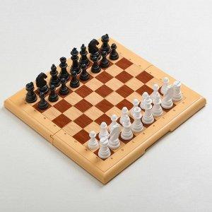"Игра настольная ""Шахматы"" 32х32 см, фигуры от 4 до 7 см, d=2.6 см"