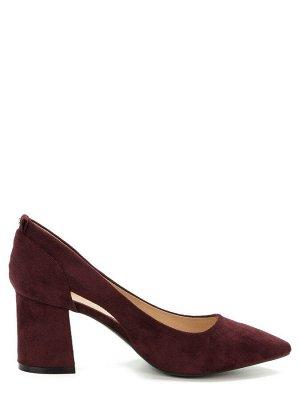 907002/01-07 бордовый иск.замша женские туфли (В-Л 2021)
