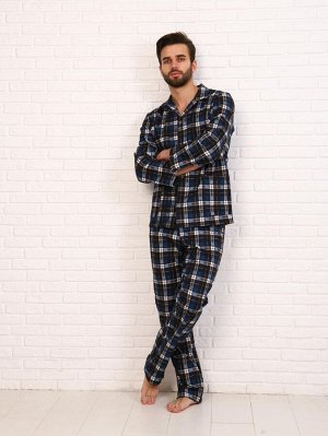 Пижама мужская,модель203,фланель (48 размер, Мишель, вид 3)