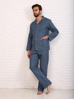 Пижама мужская,модель203,фланель (48 размер, Виши, вид 3)