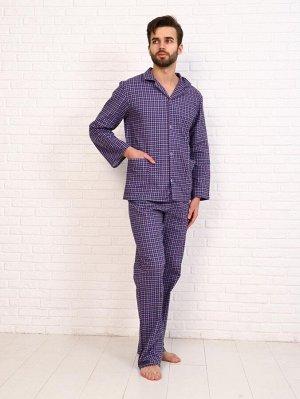 Пижама мужская,модель203,фланель (48 размер, Виши, вид 4)