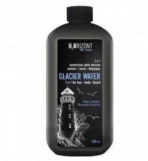 3-в-1 шампунь для мытья волос - тела – бороды GLACIAR WATЕR, 500 мл