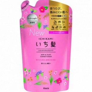 "72179kr ""Ichikami"" Шампунь для придания объема поврежд-м волосам с ароматом граната,340мл, см.уп"