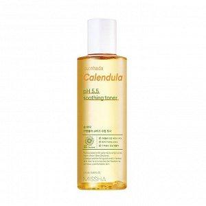 Missha Su:Nhada Calendula pH Balancing & Soothing Toner Тонер для лица с экстрактом календулы, 175мл