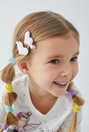 Набор из 4 заколок для волос дет. Delaria цветной