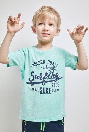 Футболка(Фуфайка) детская для мальчиков Perry голубой