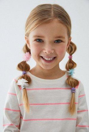 Набор из 10 резинок для волос дет. Anita цветной
