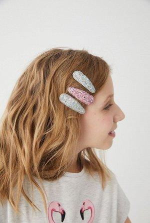 Набор из 6 заколок для волос дет. Pimentel цветной