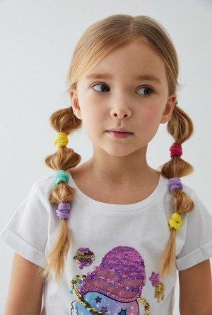 Набор из 18 резинок для волос дет. Linz цветной