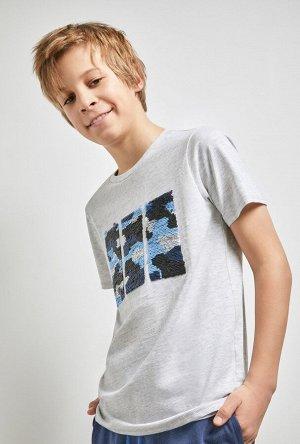 Футболка(Фуфайка) детская для мальчиков Gaika серый