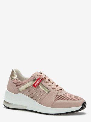 807337/02-09 розовый иск.нубук/текстиль женские полуботинки (В-Л 2021)