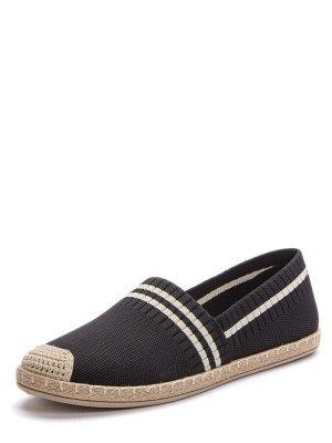 417104/01-03 черный текстиль женские туфли (В-Л 2021)