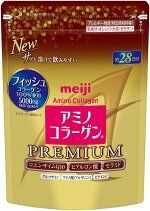 MEIJI Amino Collagen Premium -  премиальный коллаген на 28 дней
