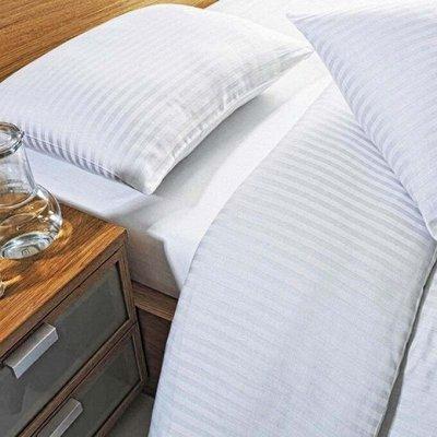 Сон с Комфортом! АКЦИЯ на Одеяла и Подушки! Успей Купить — Сатин Страйп гостиничный (полосы 3см/3см)