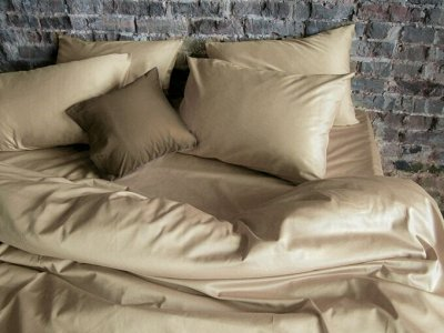 Сон с Комфортом! АКЦИЯ на Одеяла и Подушки! Успей Купить — Сатин гладкокрашенный БЕЖЕВЫЙ