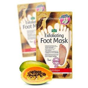 Пилинг-носочки для ступней размером до 27см Purederm Exfoliating foot mask regular, 1pair
