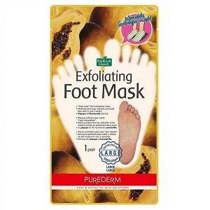 Пилинг-носочки для ступней размером от 27см Purederm Exfoliating foot mask large, 1 пара