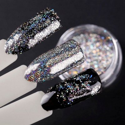 Гель-лаки, аксессуары для маникюра — Дизайн ногтей / Блестки, втирки, краски — Дизайн ногтей