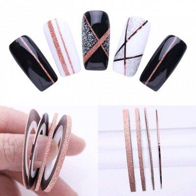 Гель-лаки, аксессуары для маникюра — Дизайн ногтей / Фольга, самоклеющиеся ленты — Дизайн ногтей