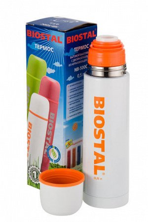 Термос Biostal NВ-1000 С 1,0л  (узкое горло, пробка) Красный