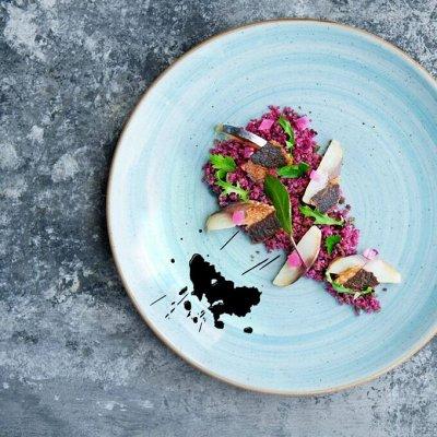 Сковороды чугунные, жаровни, сковороды для подачи — Столовая посуда серии Аква — Тарелки