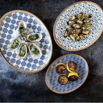Сковороды чугунные, жаровни, сковороды для подачи — Столовая посуда серии Bonna — Тарелки