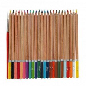 """Карандаши акварельные набор 24 цвета, ЗХК """"Белые ночи"""", в картонной коробке"""