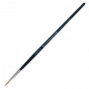Кисть Синтетика Круглая, Malevich Andy № 0, d-0.75 мм, L-6мм (короткая ручка), синий лак 753000