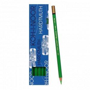 Карандаш акварельный Koh-I-Noor Mondeluz 3720/058, зеленый светлый, 175 мм, грифель 3.8 мм, ЦЕНА ЗА 1 ШТ