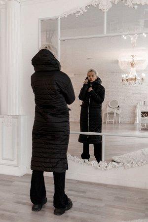 """Пальто стеганое демисезонное цвет """"черный"""""""