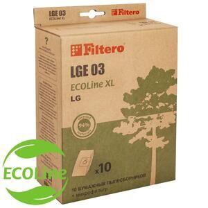Filtero LGE 03 (10+фильтр) ECOLine XL, бумажные пылесборники