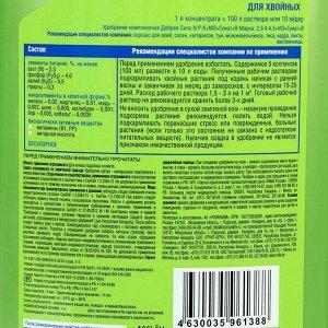 Жидкое органо-минеральное удобрение Добрая сила для хвойных, 1 л